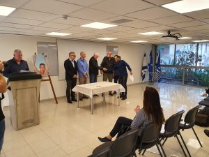 טכס חלוקת מלגות של התאחדות המלונות בחוג למלונאות ותיירות באוניברסיטה העברית ברחובות.