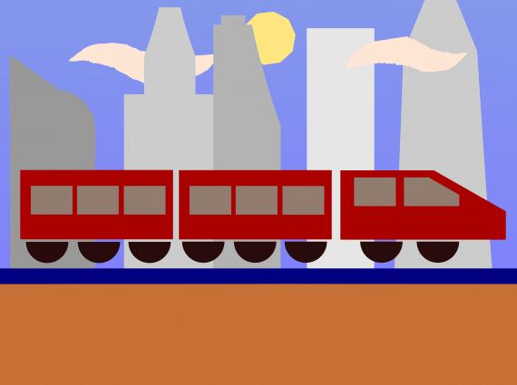 תמונת אילוסטרציה - רכבת קלה