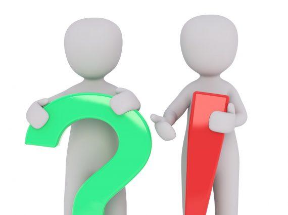אילוסטרציה - אנשים עם סימן שאלה וסימן קריאה