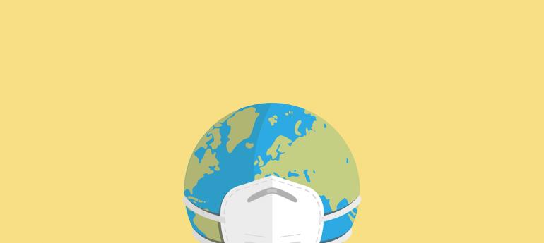 כדור הארץ עם מסכה